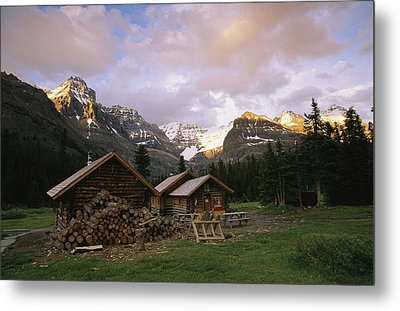 The Elizabeth Parker Hut, A Log Cabin Metal Print by Michael Melford