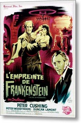 The Evil Of Frankenstein Aka Lempreinte Metal Print by Everett