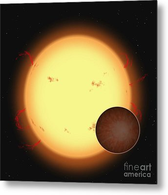 The Extrasolar Planet Hd 209458 B Metal Print by Ron Miller