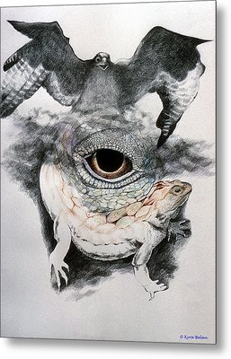 The Eye Of Power Metal Print by Kyra Belan