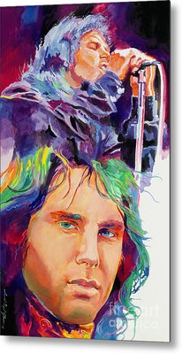 The Faces Of Jim Morrison Metal Print by David Lloyd Glover