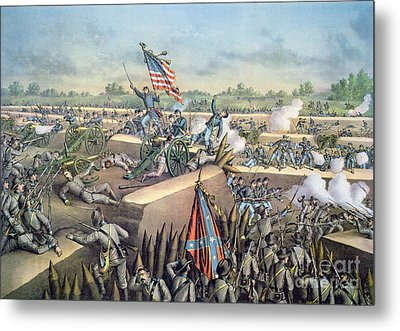 The Fall Of Petersburg To The Union Army 2nd April 1965 Metal Print by American School