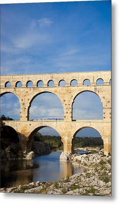 The Famous Pont Du Gare In France Metal Print by Taylor S. Kennedy