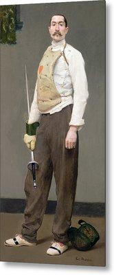 The Fencing Master Metal Print by Julius Gari Melchers