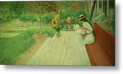 The First Lesson Metal Print by Carl Larsson