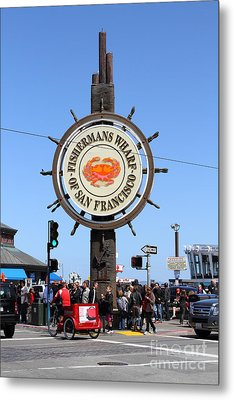 The Fishermans Wharf Sign . San Francisco California . 7d14225 Metal Print by Wingsdomain Art and Photography