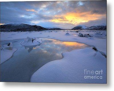 The Fjord Of Tjeldsundet In Troms Metal Print by Arild Heitmann
