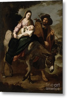 The Flight Into Egypt Metal Print by Bartolome Esteban Murillo