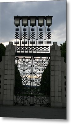 The Gate Metal Print by Nina Fosdick