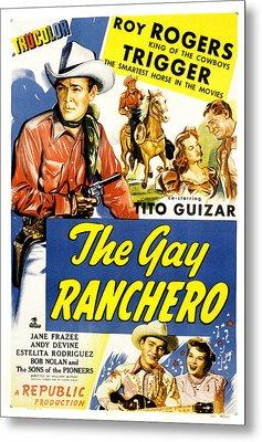 The Gay Ranchero, Roy Rogers, Trigger Metal Print by Everett
