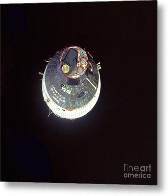The Gemini 7 Spacecraft Metal Print by Stocktrek Images