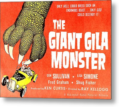 The Giant Gila Monster, Half-sheet Metal Print by Everett
