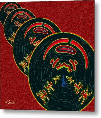 The God Of Fire Family Tree Metal Print by Alec Drake