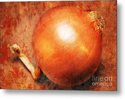 The Golden Onion Metal Print by Andee Design