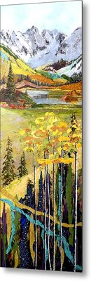 The Gore Range Metal Print by Saundra Lane Galloway