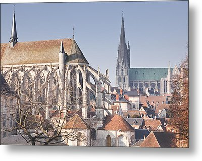 The Gothic Cathedral Of Chartres Metal Print by Julian Elliott Ethereal Light