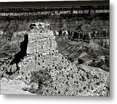 The Grand Canyon Bw Metal Print by Bob and Nadine Johnston