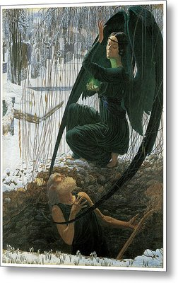 The Grave Digger's Death Metal Print by Carlos Schwabe