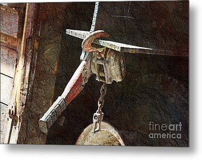 The Great Hoist Metal Print by Andee Design