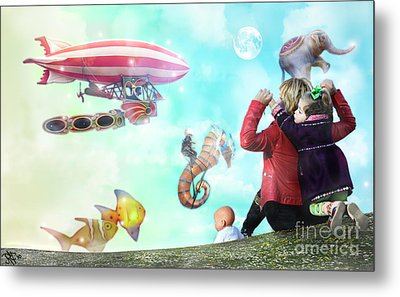 The Great Parade Metal Print by Rosa Cobos