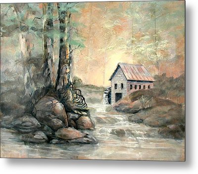 The Grist Mill Metal Print by Gary Partin