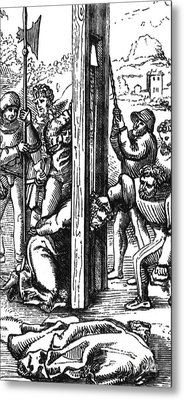 The Guillotine, 18th Century Metal Print by Science Source