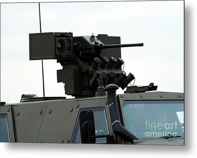 The Gun Mounted On Top Of The Dingo II Metal Print by Luc De Jaeger