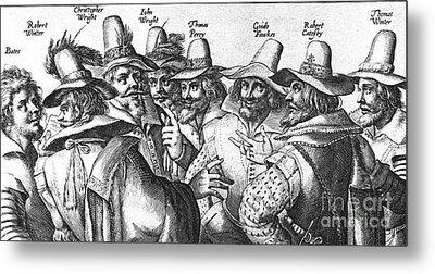 The Gunpowder Rebellion, 1605 Metal Print by Photo Researchers