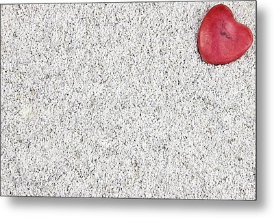 The Heart In The Sand Metal Print by Joana Kruse