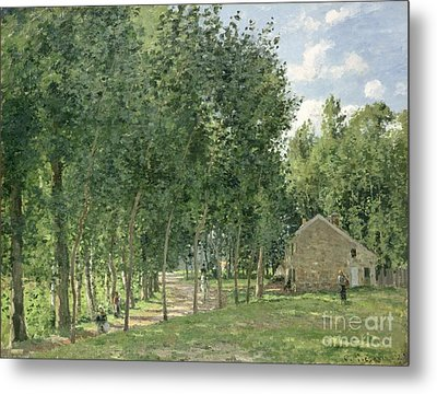 The House In The Forest Metal Print by Camille Pissarro