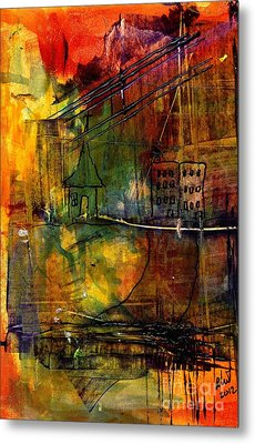 The House Jack Built In The Town Angela Imagined Metal Print by Angela L Walker