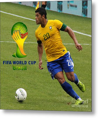 The Hulk Kicking Fifa 2014 Metal Print by Lee Dos Santos