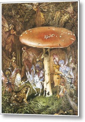 The Intruders Metal Print by John Anster Fitzgerald