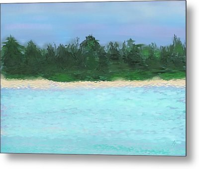 The Island Metal Print by Janet Palaggi