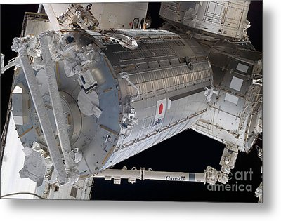The Japanese Pressurized Module, The Metal Print by Stocktrek Images