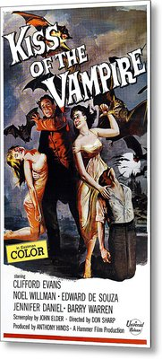 The Kiss Of The Vampire, Aka Kiss Of Metal Print by Everett