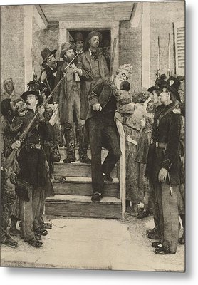 The Last Moments Of John Brown, Etching Metal Print by Everett