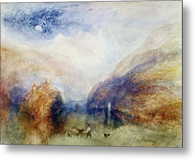 The Lauerzersee With The Mythens Metal Print by Joseph Mallord William Turner
