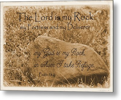 The Lord Is My Rock Psalm 18 Metal Print by Robyn Stacey