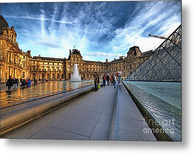 The Louvre Paris Metal Print by Charuhas Images