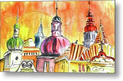 The Magical Roofs Of Prague 01 Bis Metal Print by Miki De Goodaboom