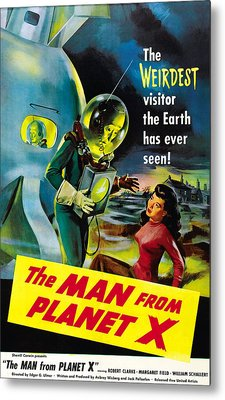 The Man From Planet X, Pat Goldin Metal Print by Everett