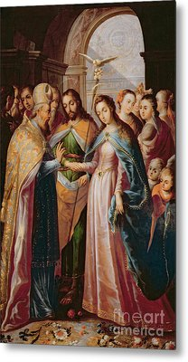 The Marriage Of Mary And Joseph Metal Print by Mexican School