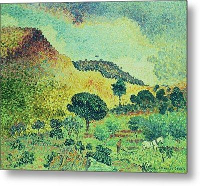The Maures Mountains Metal Print by Henri-Edmond Cross