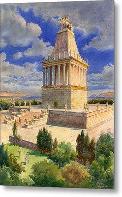 The Mausoleum At Halicarnassus Metal Print by English School