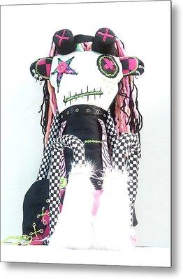 The Misfit Cyberpunk Pussy Cat Jones Version 1.0 Metal Print by Oddball Art Co by Lizzy Love