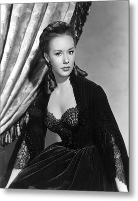 The Mississippi Gambler, Piper Laurie Metal Print by Everett