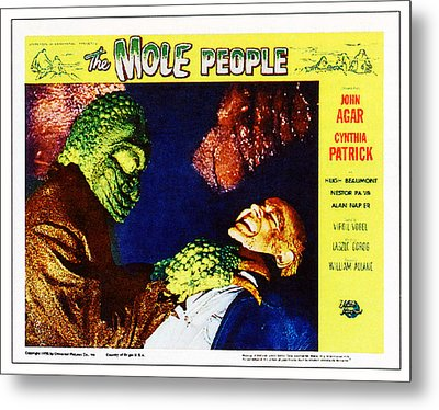 The Mole People, On Right Nestor Paiva Metal Print by Everett