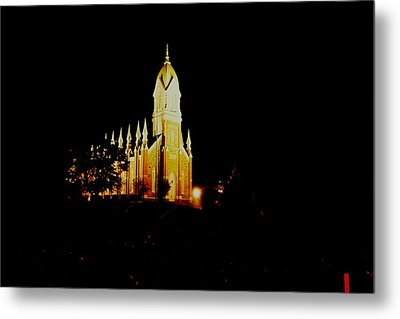 The Morman Temple In Brigham City Metal Print by Jeff Swan