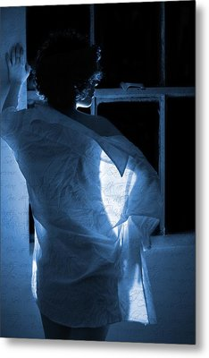 The Muse- She Moves Like Poetry Metal Print by Nyla Alisia
